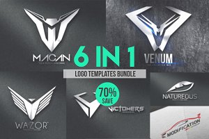 6 in 1 Logo Templates Bundle