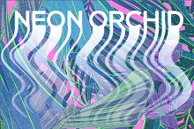 NEON ORCHID seamless patterns by  in Graphics
