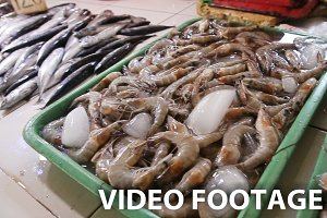 seafood at the fish market