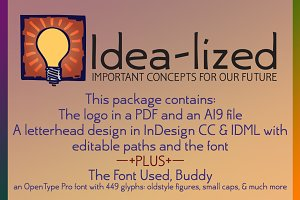 Idea-lized logo & font package