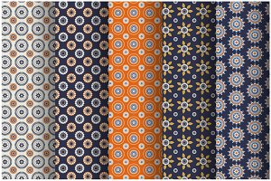 Set of seamless pattern (swathes)