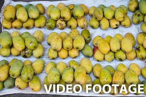 yellow mango on fruit market