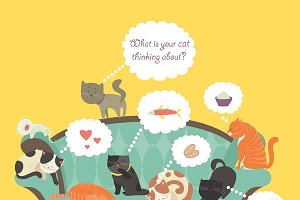 Cats with speech bubble