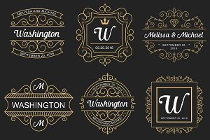 6 Wedding Monogram Logo Templates