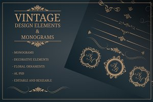 Vintage design elements &monograms