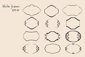 Vector Frames Set