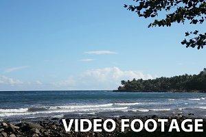 Rocky volcanic beach