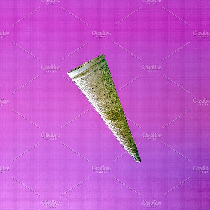 Waffle cone. Minimal - Beauty & Fashion