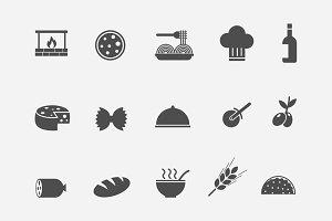 15 Italian Food Icons
