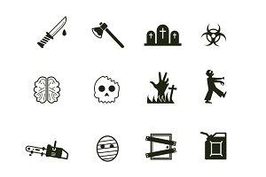 12 Zombie Icons