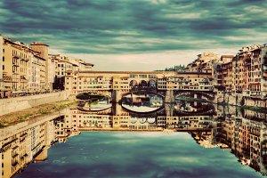 Ponte Vecchio in Florence. Vintage.