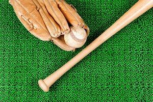 Baseball on artificial grass