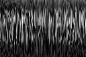 Black and white metal wire