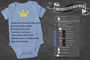 Baby Bodysuit Mock Up Tester