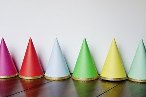 Colorful Birthday Party Hats