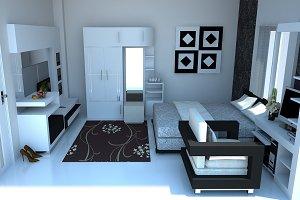 White hotel room