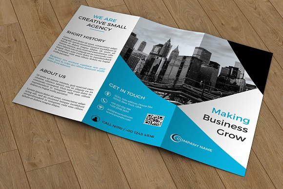 trifold business brochure v422 brochure templates creative market