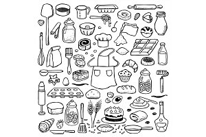 Bakery set + 2 Seamless Patterns