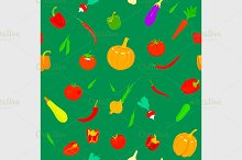 pattern with vegetables.