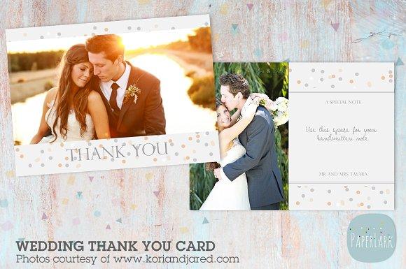 AW011 Wedding Thank You Card ~ Card Templates ~ Creative Market