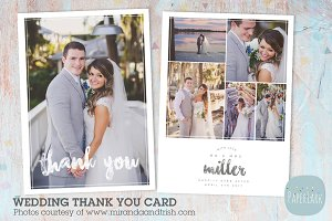 AW023 Wedding Thank You Card