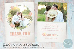 AW008 Wedding Thank You Card