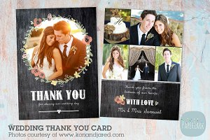 AW012 Wedding Thank You Card