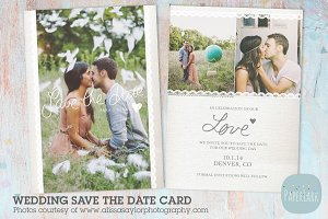 AW017 Save the Date Card Template