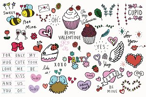 Hand-drawn Valentines Illustrations