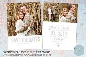 AW007 Save the Date Card Template