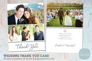 AW009 Wedding Thank You Card