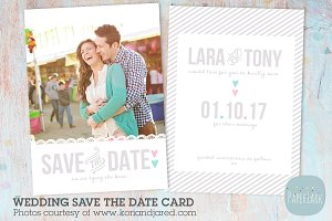 AW004 Save the Date Card Template