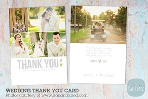 AW002 Wedding Thank You Card