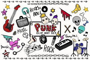 Hand-drawn Punk Music illustration