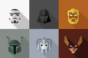 SuperHeroes Masks Flat (Set 05)