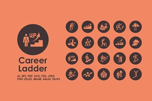 Career Ladder icons