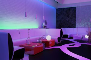 Place to relax in nightclub