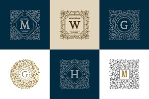 Luxury Logo & Monogram set