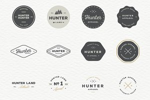 Retro Badges Logo Bundle