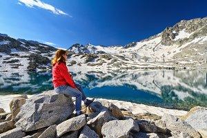 hiker in Monticello Lake