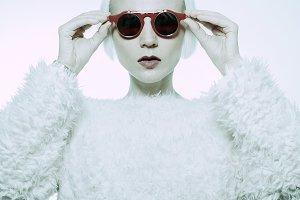 Glamorous Lady Steampunk Sunglasses