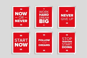Inspirational motivational quote set