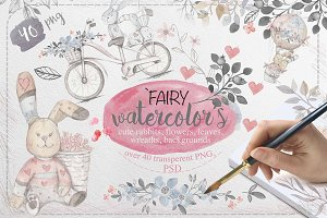 45%OFF! Fairy watercolors Bundle