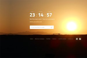 Landing & error web set