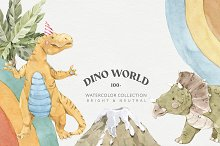 Sale! Dinosaur World Watercolor Set