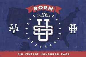 Born In The U.S. • Vintage Monogram