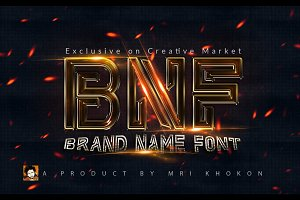 Brand Name Font