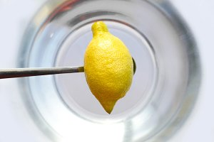 Lemon above the water