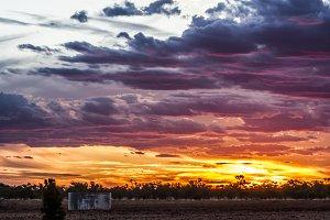 A Rainbow Coloured Sunset