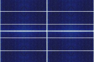 big seamless texture of solar panel